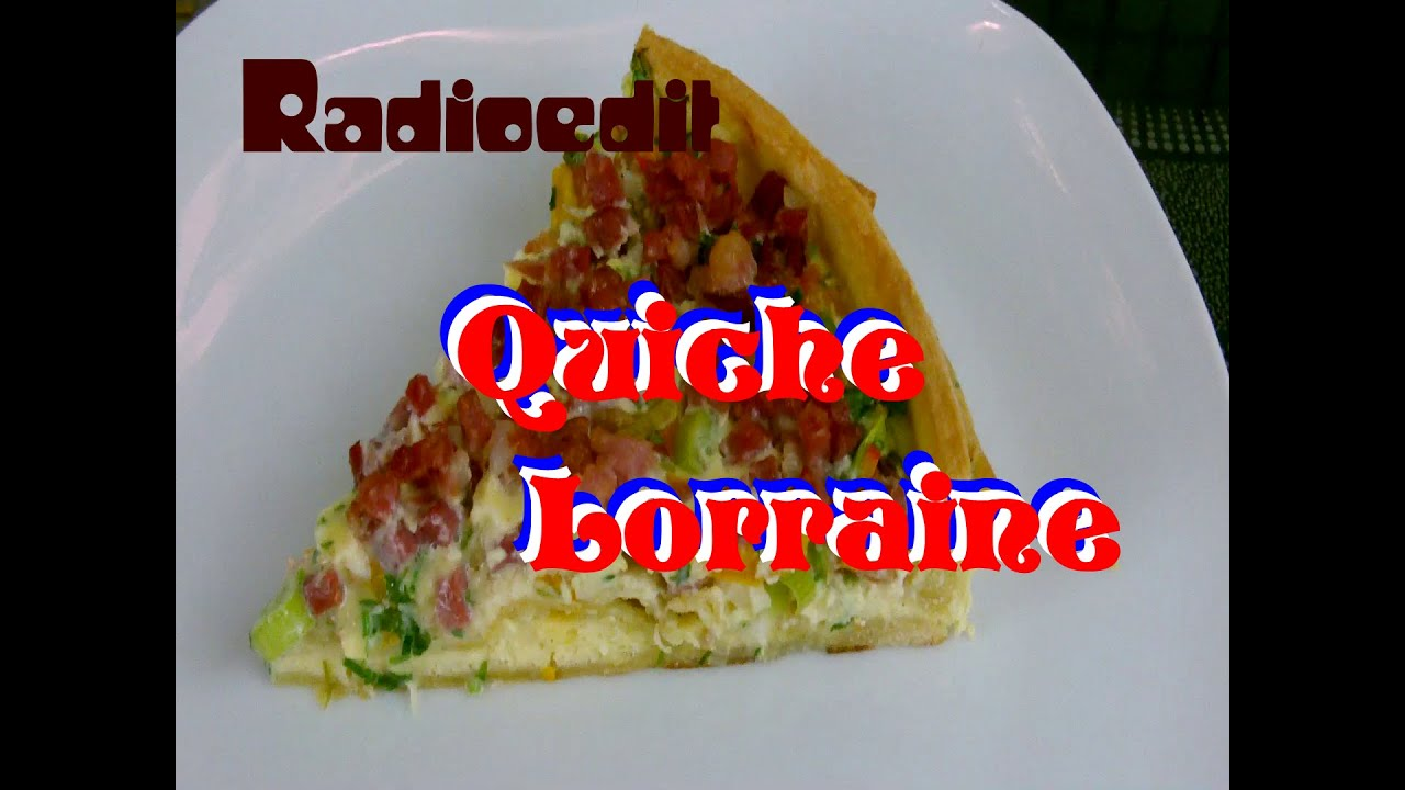 quiche lorraine rezept auch vegetarisch youtube. Black Bedroom Furniture Sets. Home Design Ideas