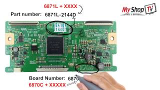 TV Part LG T-Con Board, Part Number by My Shop TV