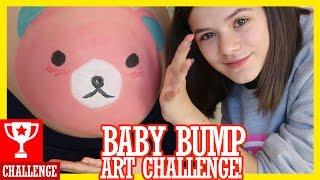 BABY BUMP PAINTING CHALLENGE!  |  KITTIESMAMA