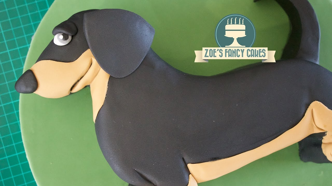 Dachshund Cake Sausage Dog Simple Birthday Tutorial