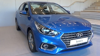 2017 Hyundai Solaris. The presentation in Moscow