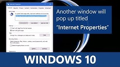 Windows 10 - Learn how to fix and reset Internet explorer to default settings.
