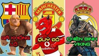 Biệt danh của các câu lạc bộ nổi tiếng trên thế giới. Bạn biết bao nhiêu cái tên ?