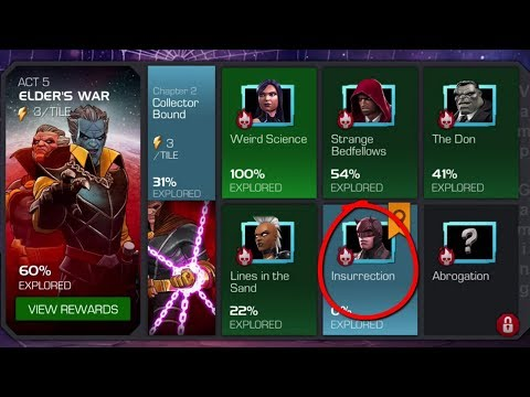MARVEL CONTEST OF CHAMPIONS: STORY QUEST ELDER'S WAR Collector Bound: Insurrection (ACT 5.2.5)