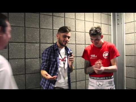 Interview with Rhys McKee after BAMMA 22 in Dublin