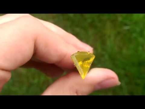 Blazing Yellow Idaho Fire Opal Gemstone from KGC