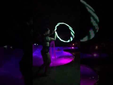 Cosmic Kitten Hula Hoop Light Show Flowing