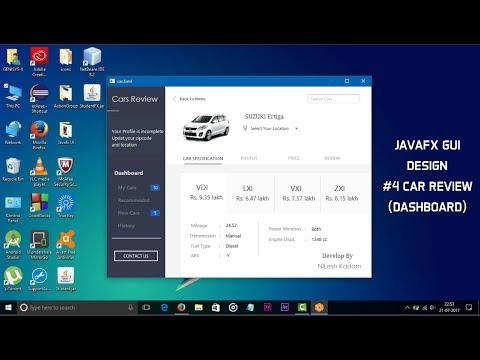 JavaFX GUI Design #4 Car Review (Dashboard)