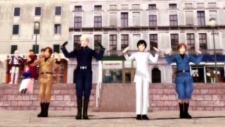 【HETALIA】ninjyari ban ban【MMD】
