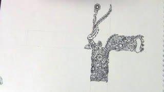 Крест из цветов. Эскиз тату.(Ускоренный рисунок креста декорированного цветочными мотивами., 2016-04-05T21:44:32.000Z)