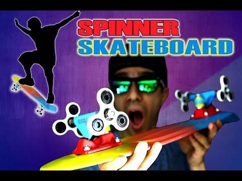 How To Make a Fidget Spinner Skateboard Using Spinners as Wheels! EASY DIY TUTORIAL!
