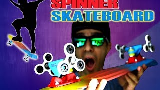 How To Make a Fidget Spinner Skateboard Using Spinners as Wheels! EASY DIY TUTORIAL!