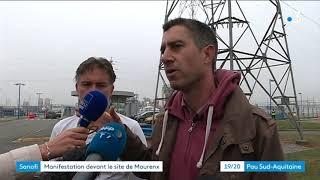 Santé : François Ruffin devant le site de Sanofi à Mourenx
