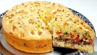 Torta de Carne Moída no Liquidificador