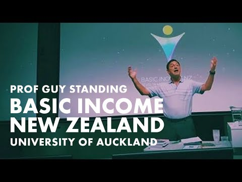 Prof Guy Standing speaks about Basic Income in New Zealand at the University of Auckland