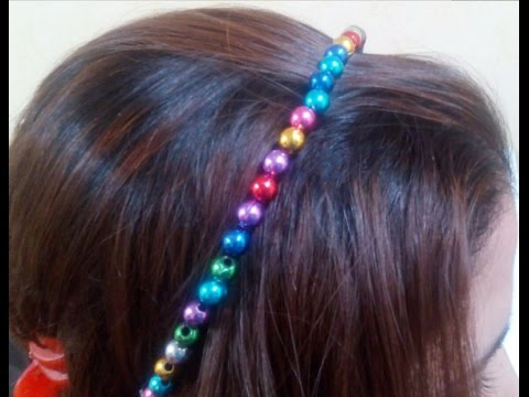 Diy Crafts How To Make Beaded Hair Accessories Tutorial Youtube