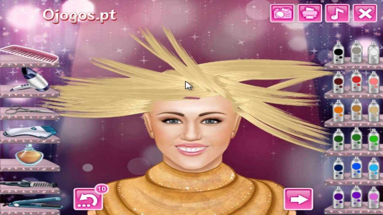 Real Haircuts Hannah Montana Miley Cyrus Game Youtube