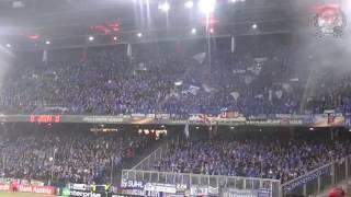 Schalke zündet in Salzburg Pyro...Sche*s* RedBull!