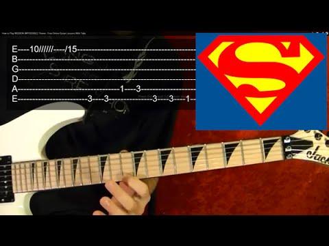 SUPERMAN Theme Guitar Lesson