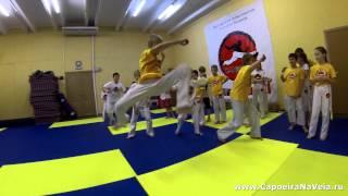 детская тренировка по акробатике 8-12 лет