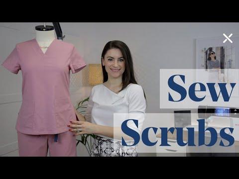 How To Sew Scrubs Tutorial