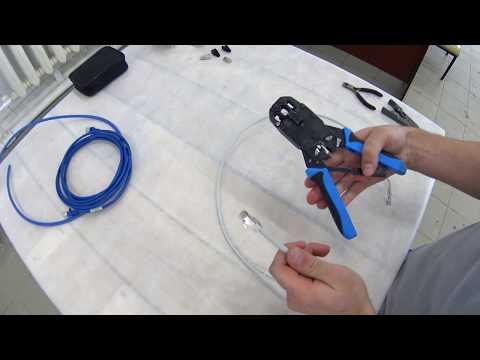 Как обжать кабель 6 категории