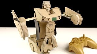 Remote Control Car Robot Transformer - DIY from Cardboard
