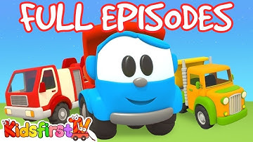 Leo the Truck & robots for kids. Cartoon compilation for kids.