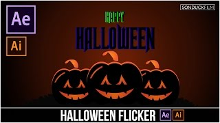 Halloween Pumpkin Flicker Graphics After Effects & Illustrator Tutorial