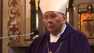 Msza Św  pogrzebowa ś. p. abp  Bolonka- homilia abp.  Ziółka