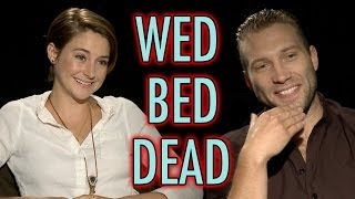 flushyoutube.com-Divergent Cast Plays Wed, Bed, Dead! Shailene Woodley Interview