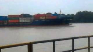 Cargo ship (largest) at kolkata dock