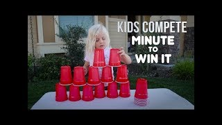 MINUTE-TO-WIN-IT GAMES | Kids Compete!