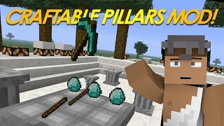 Minecraft Mods | 3D CRAFTING Mod | Craftable Pillars Mod (Mod Showcase)