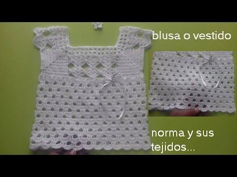 Blusa O Vestido A Crochet Para Ni 241 A 2 A 3 A 241 Os Youtube