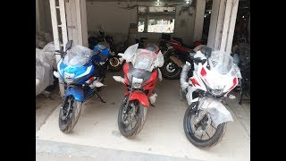 Suzuki Gsx  R150 Brilliant White, Stronger Red, Metallic Triton Blue & Titan Black Colour Walkaround