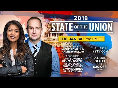 STATE OF THE UNION LIVESTREAM: Gavin McInnes Joins Hosts Michelle Malkin, Andrew Wilkow & MORE!