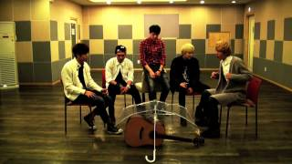 [Pre Debut] 140127 B.I.G (Boys In Groove) Singing Umbrella (By Rihanna) Acoustic Ver.