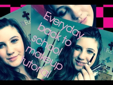 EVERYDAY BACK TO SCHOOL MAKEUP TUTORIAL | Rainbow swag