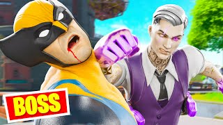 BOSS WOLVERINE vs BOSS MIDAS OMBRE !! ( Expérience Boss Fortnite )