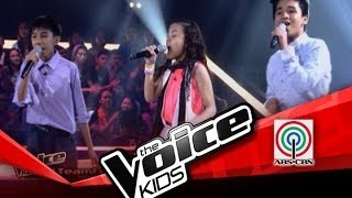 "The Voice Kids Philippines Battles  ""Hey, Soul Sister"" by Kobe, Lorenzo, and Shanne"