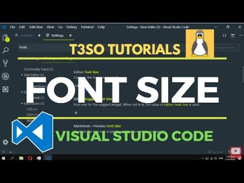 How to change Font size in Visual Studio Code