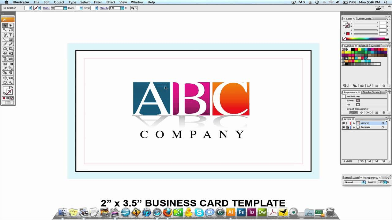 Adobe illustrator tutorial professional business card design youtube accmission Choice Image