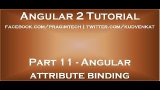 Angular attribute binding