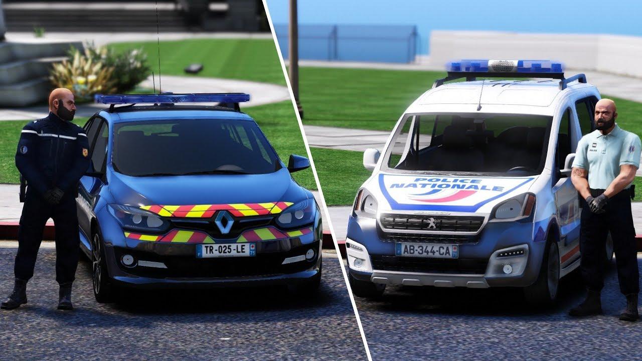 gta-lspdfr  patrouille police nationale  gendarmerie nationale 100