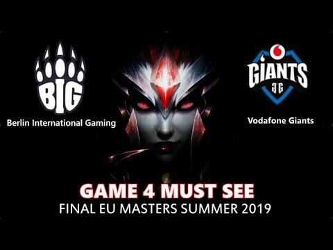 BIG Vs. GIA Игра 4 Must See | EU Master Summer 2019 Final | Плей-офф Финал | Berlin Gaming GIants
