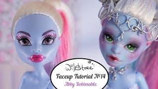 Faceup Tutorial №14 Abby Bominable OOAK Monster High repaint custom doll