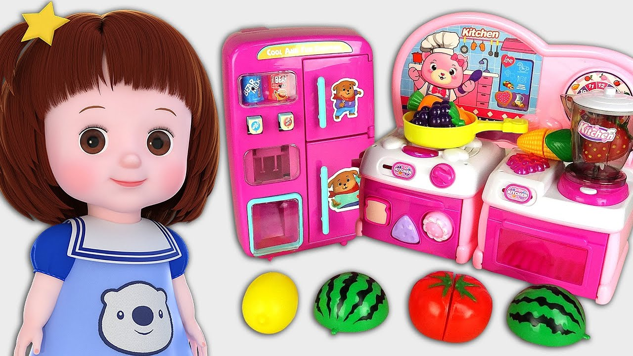 Download Baby Doli and vending machine refrigerator baby doll cooking kichen story
