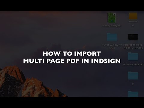 How To Import Multi Page Pdf In Indesign