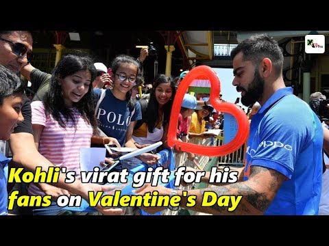 Watch: Kohli's viraat gift for his fans on Valentine's Day | Happy Valentine's Day 2019 Mp3